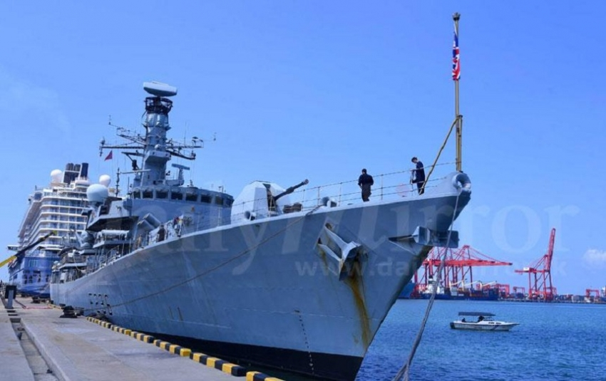 British  Navy ship in Colombo