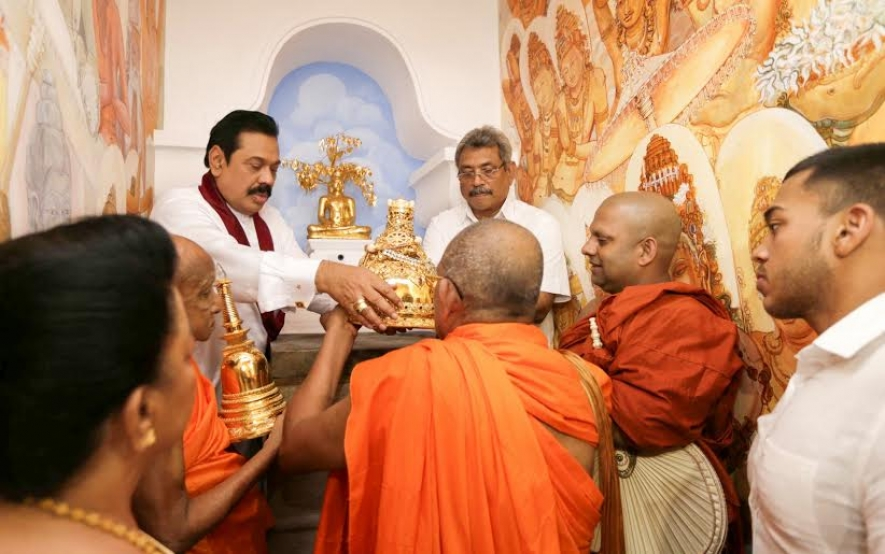 President places omniscient sacred relics in 'Sandahiru Stupa'