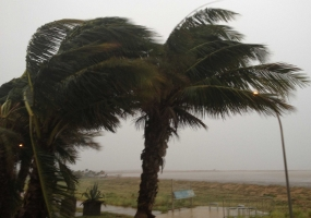 Strong winds  over the island