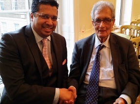 DR CHRIS NONIS WITH NOBEL LAUREATE AMARTYA SEN