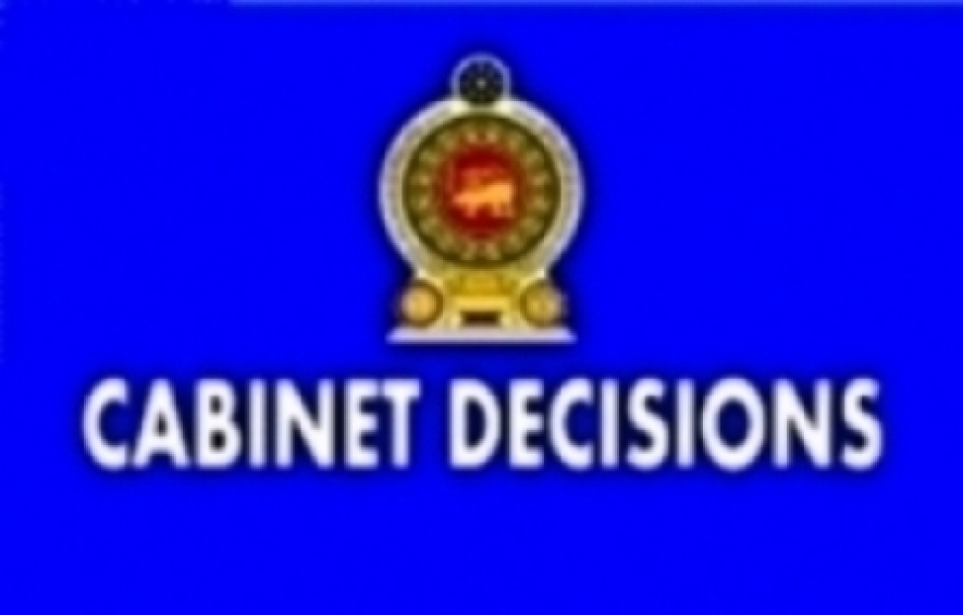 DECISIONS TAKEN BY THE CABINET OF MINISTERS AT ITS MEETING HELD ON 10-01-2017