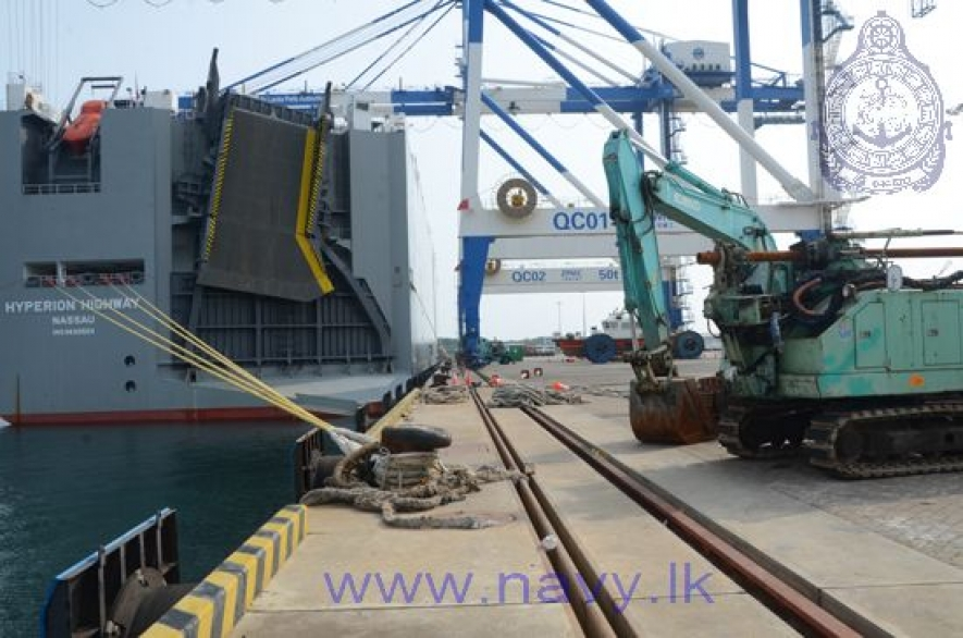 Navy gets the situation under control at the Port of Hambantota