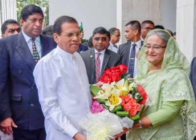 Sri Lanka- Bangladesh leaders meet