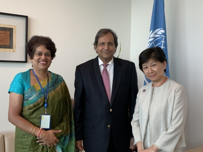 SRI LANKA ASSURES SUPPORT TO GLOBAL DISARMAMENT AGENDA