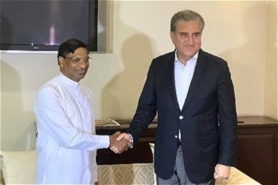 Pakistan's Foreign Minister arrives in Sri Lanka