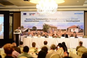 International Conference on Post Emergency Shelter Reconstruction held in Colombo