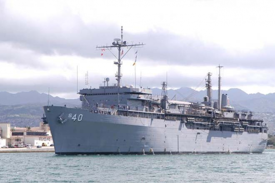 'USS Frank Cable' arrives at the Port of Colombo