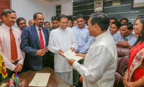 Rajitha Senarathne and Ruwan Wijewardene assume duties