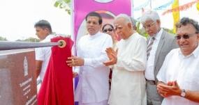 President opens Lanka Patuna Bridge