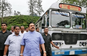 President inspects road clearance work along  Badulla – Bandarawela road