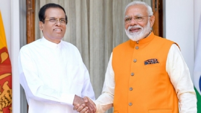 Indian PM holds meeting with SL President