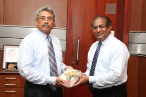 'Hewayakuge Mathakasatahan' second edition hand over to Secretary Defence
