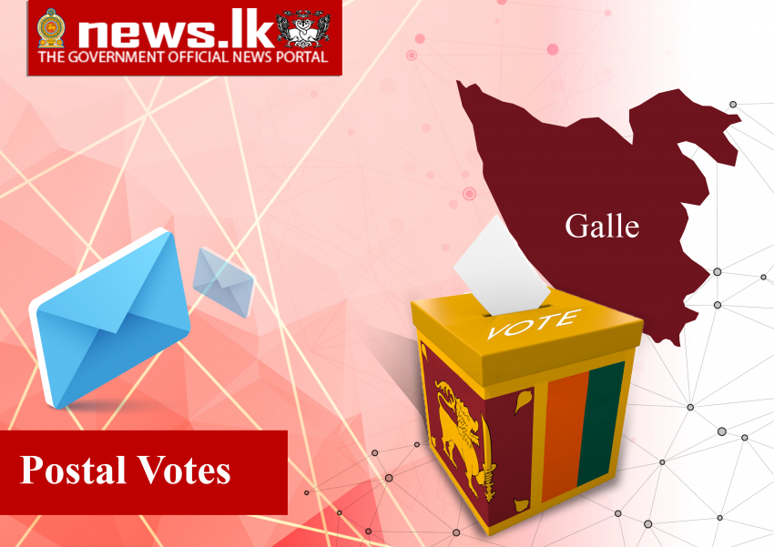 OFFICIAL ELECTION RESULTS PARLIAMENTARY ELECTION - 2020    Polling Division : POSTAL District : Galle
