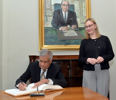 Finland Speaker meets PM Wickremesinghe