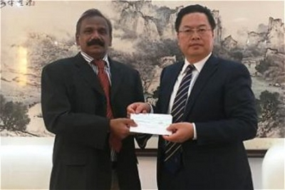 China donates Rs. 17.84 Mn for the Injured in Easter Sunday bomb Attacks