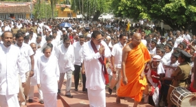 Sri Pada  Season ends, President pays homage to God Saman's statue