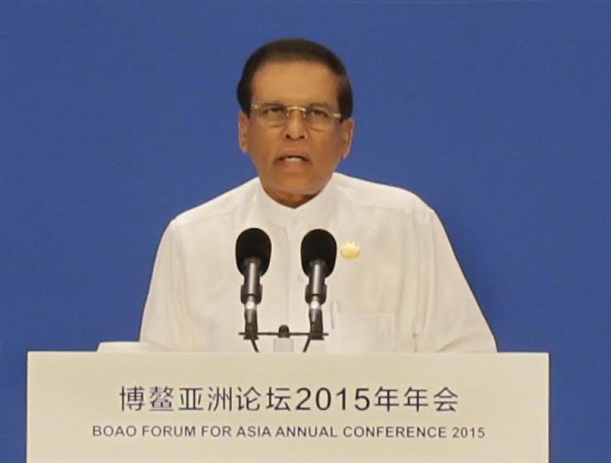 Speech by  President Maithripala Sirisena, at the Plenary Session of the Boao Forum for Asia 2015, on 28 March 2015