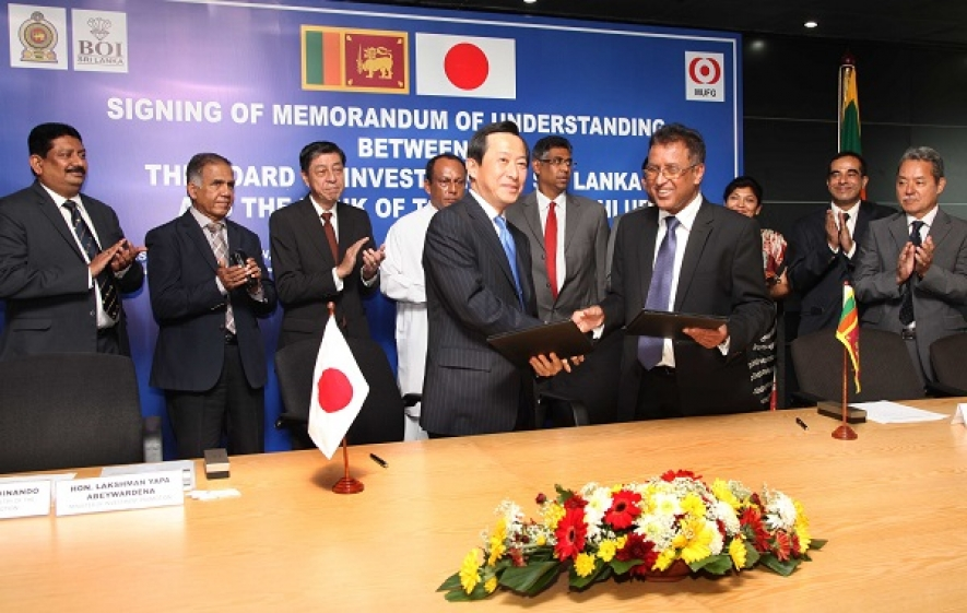 MOU signed between BOI and BTMU to promote FDI in Sri Lanka by Japanese Investing