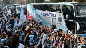 FIFA World Cup 2014 Final: Argentina's team welcomed home