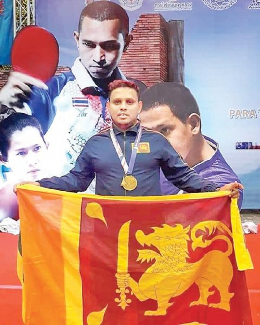 Deshapriya wins table tennis gold