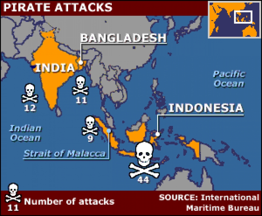 Pirate attacks have been on the rise in Southeast Asia
