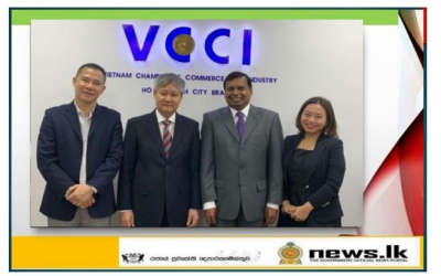 Ambassador Prasanna Gamage meets with Vice President and General Director of Viet Nam Chamber of Commerce & Industry Vo Tan Thanh