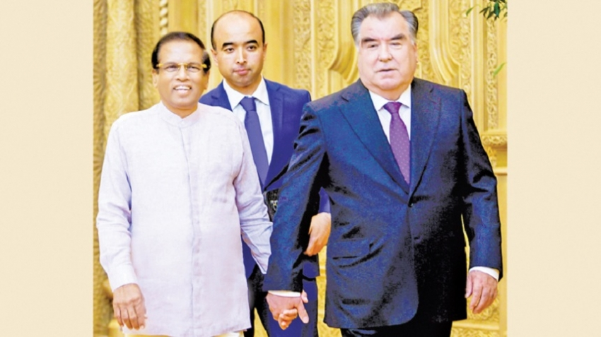 Meeting of  Sri Lanka- Tajikistan Presidents