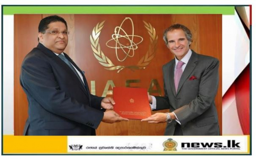 Permanent Representative Majintha Jayesinghe Presents Credentials to the International Atomic Energy Agency (IAEA)