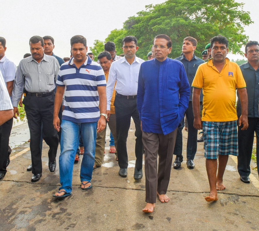 President tours flood-hit areas to observe relief operations