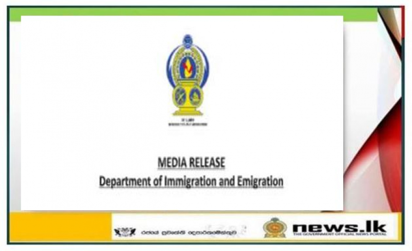 News Release- Department of Immigration and Emigration