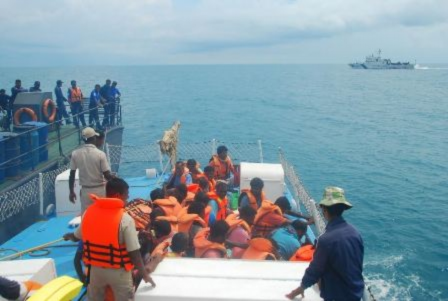 Group of Indian and Sri Lankan fishermen repatriated