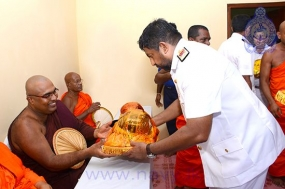 Katina Pinkama at Nagadeepa temple held with Navy Assistance