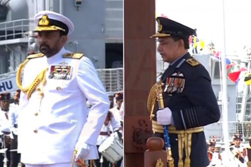 Karannagoda & Gunathileke presented highest honorary ranks