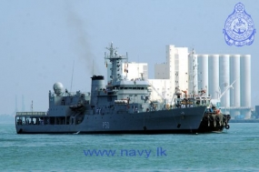 "Indian Naval Ship ""Sukanya"" arrives at the Port of Colombo"
