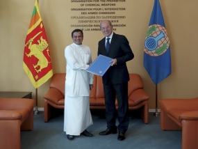 SL Ambassador presents credentials to the OPCW in the Hague