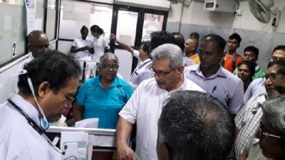 President on observation visit to Colombo National Hospital