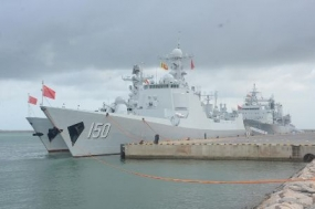 Chinese ships return home