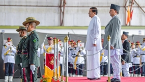 Sri Lankan President receives warm welcome in Nepal