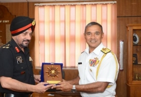 A delegation of Indian Army Higher Command Course visits Naval Headquarters