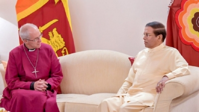 President says Archbishop's visit is blessing for Sri Lanka