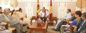 Provincial Assembly Members from Balochistan Meet President Rajapaksa