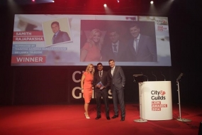 SLT student receives recognition as the City & Guilds 'International Learner of the Year'
