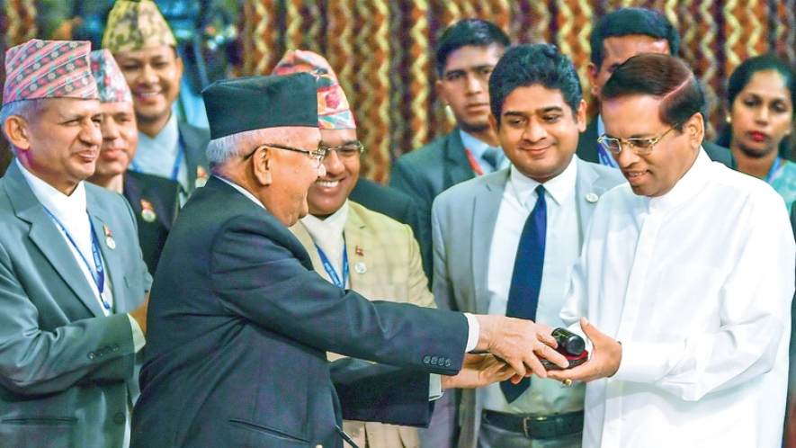 BIMSTEC Chairmanship handed over to President