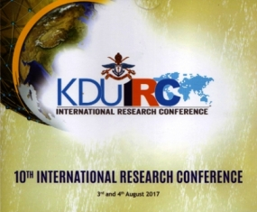 KDU International Research Conference in August