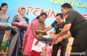 Army-Erected New Pre-School in Siththankerni Vested in Kids