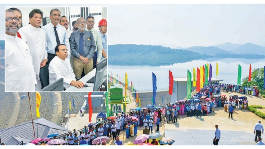 PRESIDENT OPENS COMPLETED KALU GANGA RESERVOIR PROJECT