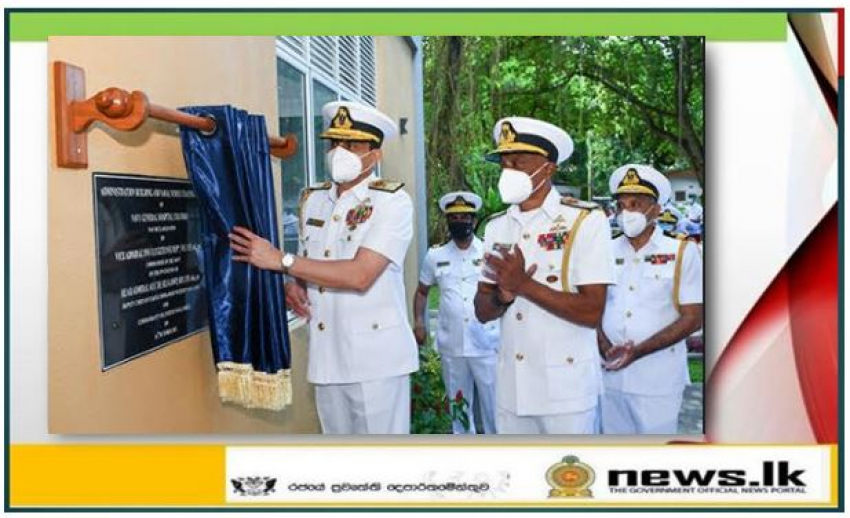 Four storeyed multi-purpose building at Navy General Hospital declared open