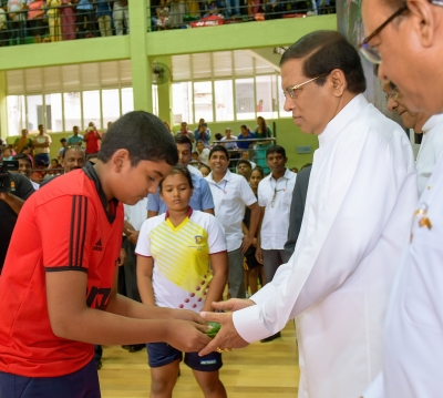 President opens stadium of Kandy Municipal Council