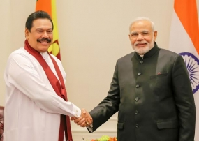 President Rajapaksa and India's Prime Minister Modi Agree to Strengthen Relations