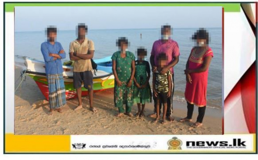 A group of suspicious illegal immigrants from Sri Lanka intercepted off Pesalai